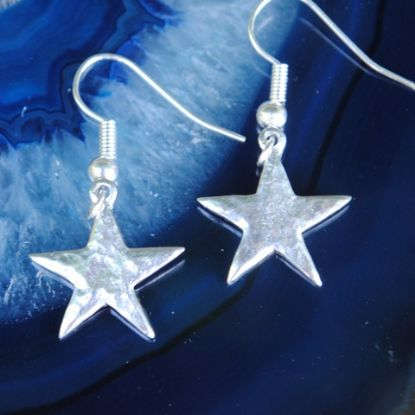 Hammered Star earrings E53